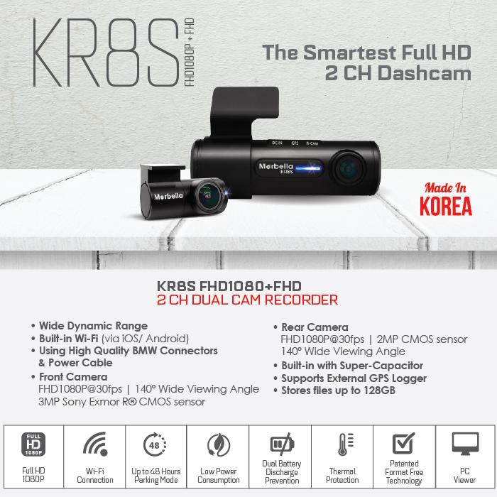 Marbella KR8S Dash Cam