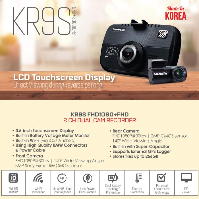 Marbella KR9S Dash Cam Description