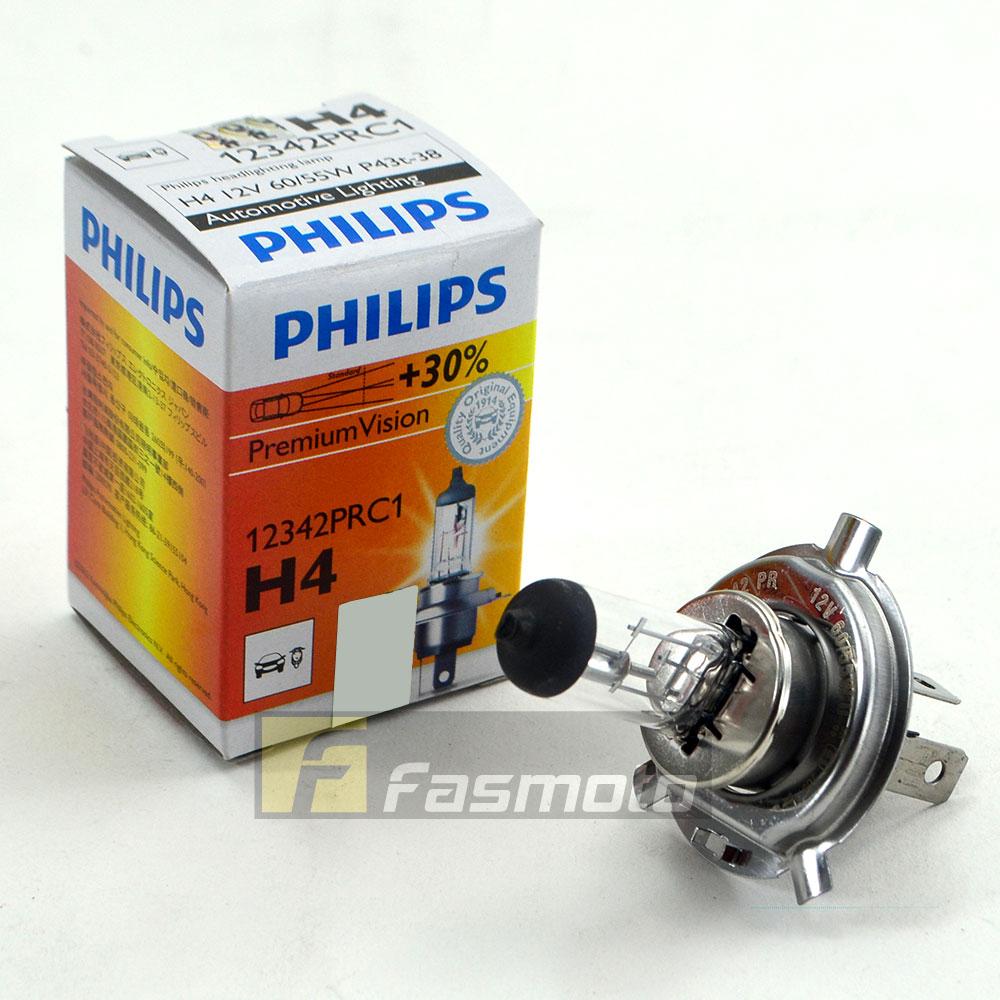 Genuine Philips 12342prc1 H4 Premium Vision 12v 60 55w