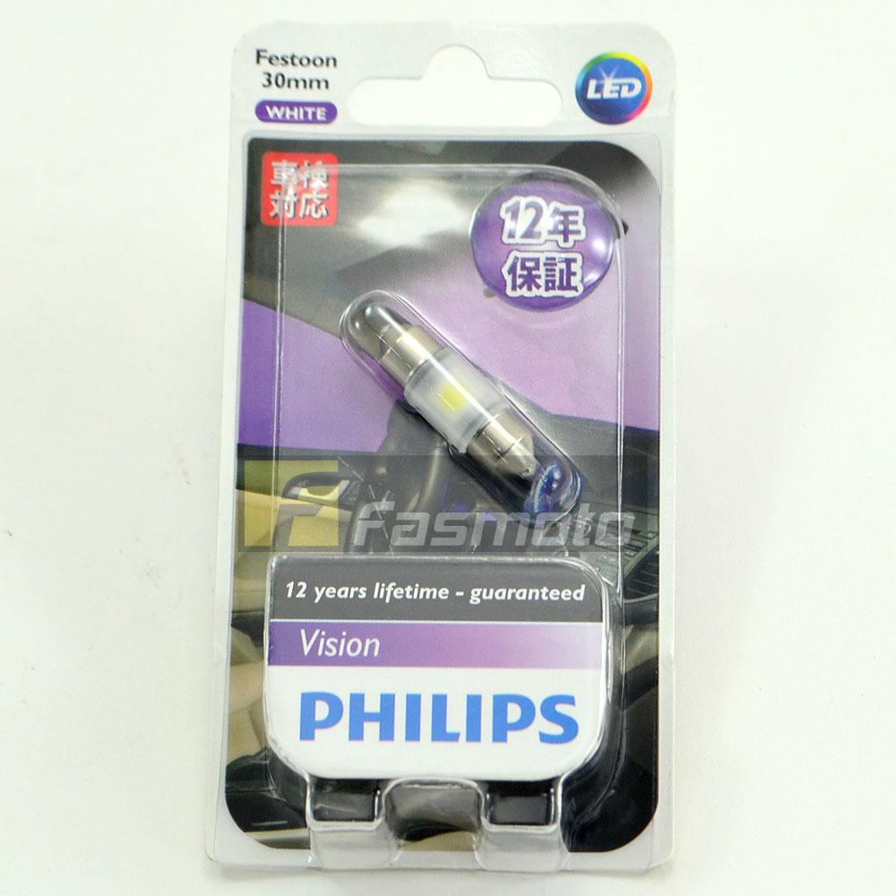 Philips 12800B1 Festoon 30mm Vision LED 6000K 25 Lm 12V